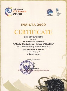 Special Mention INAICTA 2009
